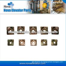Piezas de repuesto de elevador, Clavijas para rieles forjados, T Tipo Clip de riel para T45 / A, T50 / A, T75-3 / B, T89 / B, T127-2 / B