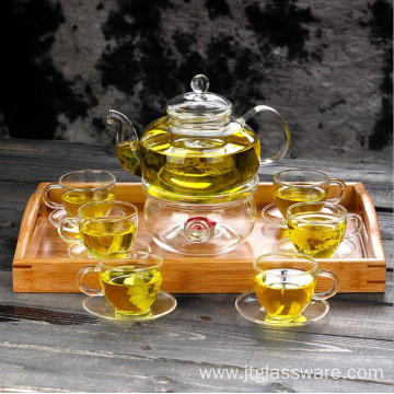 800ml Handmade High Borosilicate Glass Teapot Set