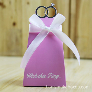 Kotak Hadiah Kustom Wedding Nikmat Paper Candy Box