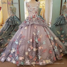 LS00103 appliques de luxo vestido de noite arco íris india vestidos de beira com manga