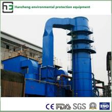 Operação de dessulfuração e desnitrificação - Tratamento do fluxo de ar do forno de indução