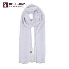 HEC Die beliebtesten Artikel Frauen bedruckte lange Plain Polyester Schal