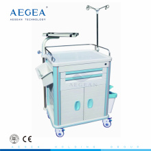 AG-ET014B1 equipped with dust basket hospital plastic emergency cart