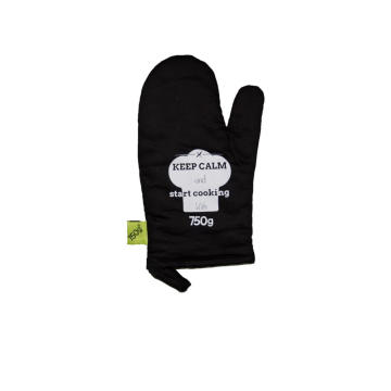 2018 Kefei Magnetic Silicone Black Oven Mitt With Logo