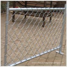 Clôture temporaire / matériau de cadre en métal et clôture galvanisée