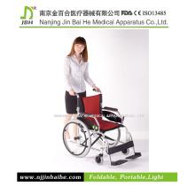 Cadeira de rodas manual leve para deficientes e idosos
