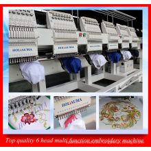 Best 6 Head Programmable Computer Embroidery Machine / High Speed Multi Function Embroidery