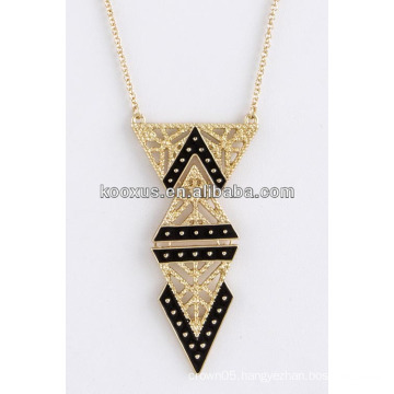 TRIANGLE TIERED ACCENT NECKLACE JEWELRY