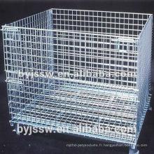 Palettes en cage pliables en métal
