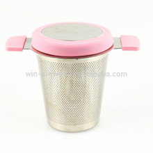 Hot Selling Wholesale Custom Stainless Steel Basket Mesh Tea Strainer With Lid