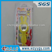 2013 customized vivid rabbit shaped Soft PVC bottle opener