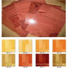 Revestimento da coberta de assoalho do PVC da qualidade de 0.35m-3.00mm