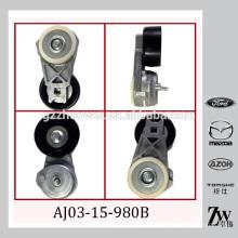 Tensor de correa ajustable y polea, v cinturón acanalado para MAZDA Tribute, MPV AJ03-15-980B