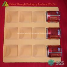 Flocage plateau de verre en plastique thermoformé