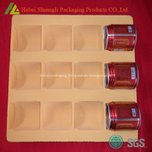 Thermoformed flocking plastic drink tray