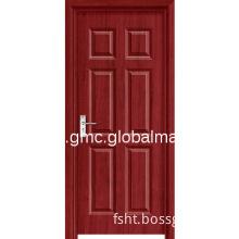 Interior hinged wood door