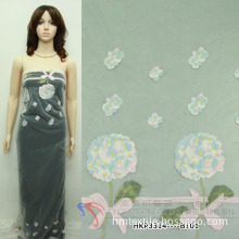 Embroidery Fabric on Organza for Fashion Skirt