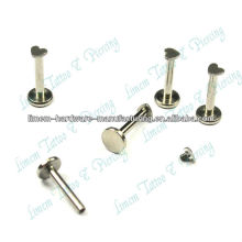 316L surgical steel ROUND LABRET 16G STEEL LIP RING STUD INTERNAL THREAD with Heart High polished lovely With Dice