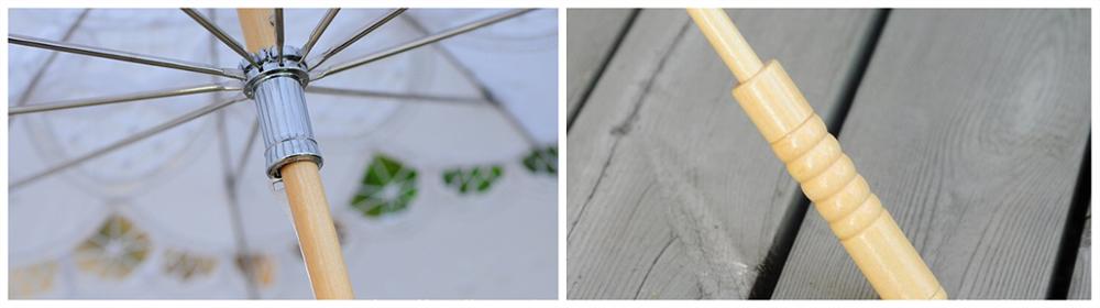 Handtailor high-end lace wedding umbrella handle