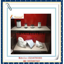 Bolsa de filtro de polvo de fibra de vidrio de alta temperatura no alcalina con PTFE expandido para planta de cemento