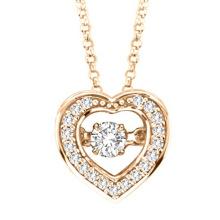 Gold Plate 925 Silver Dancing Pendentifs diamant Bijoux