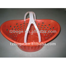 cesta plástica com molde do punho