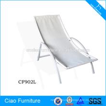 Chaise longue empilable en aluminium empilable de meubles extérieurs