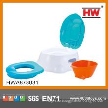 Hochwertiger Plastikblau und Weißer Töpfchensessel des Kindes