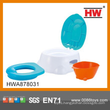 High Quality Plastic Blue And White Kid's Potty Chair