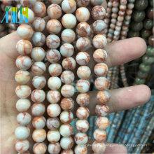 Mode Edelsteine 8mm Natürliche Edelstein Runde Rote Picasso Jasper Natürliche Edelstein Perlen