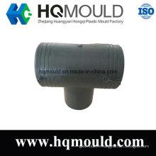 Moulage par injection en plastique de tuyau de pièce en t de diamètre égal
