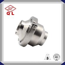 Válvula de retenção sanitária de aço inoxidável DIN 316 não retomada