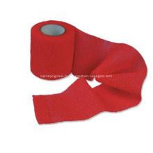 Bandage élastique auto-adhésif tout coton coloré sans latex