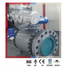 Válvula de esfera de aço inoxidável F304 com operação pneumática