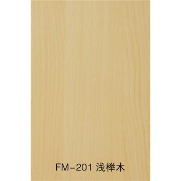 Fireproof and waterproof wood grain fiber cement board