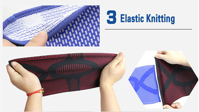 elastic knitting knee pad