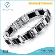 Unique silver stainless steel bracelet,mens heavy bracelet