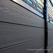 Aluminum Post Frame Outdoor Waterproof WPC Composite Wood Fence Panel System Garden Strong Plastic Panels Boards Fencing Panel