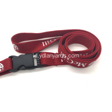 5/8 '' Silk Screen Dicetak Tube Polyester Lanyards