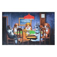 100% chien peint à l'huile à la main sur toile pour enfant (AN-088)