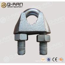 U.S.type clipes de corda de arame galvanizado maleável aparelhamento