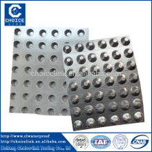 Plástico dimple impermeável dreno bordo