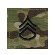Military Rank Insignia Hook Tab Patches Made By Twill