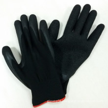 13G Polyester Gloves Latex Coated Gloves Safety Work Gloves