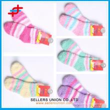 Damen Bunte Terry Tuch Socke / Terry Sock Manufacturing / Sock Terry Großhandel
