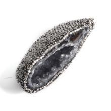 Pingente de Pedra Natural Pingente de Pedra Branca Pendente de Pedra Druzy Atacado para Homens e Presente Mulher