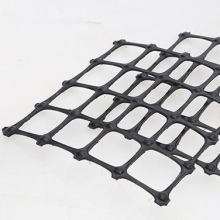 PP biaxial plastic geogrid 30KN pavement reinforcement