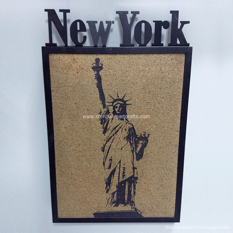 New York Statue of Liberty Metal Frame Wall Art