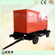 China Remolque Silencioso 250kVA 200kw Energía Eléctrica Diesel Motor Generador
