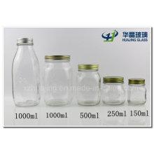 Unterschiedlicher Größe Mason Glas mit Zinndeckel Großhandel